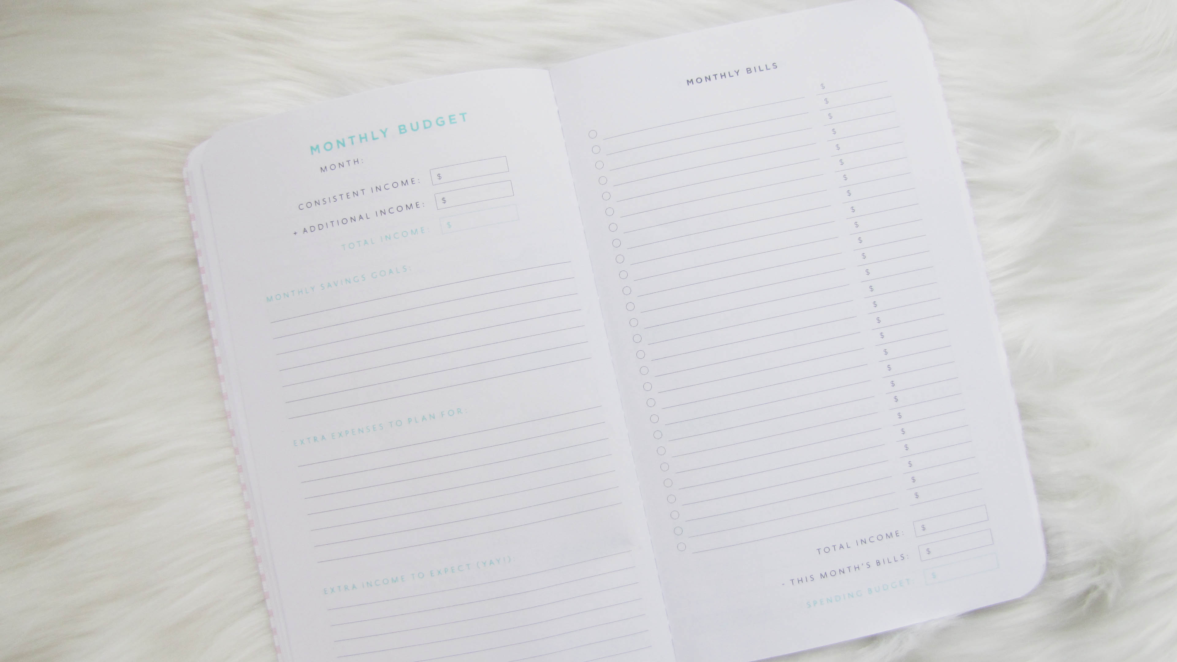 How do use a budget planner | Monthly Budget Page of budget planner | Margaret Paige