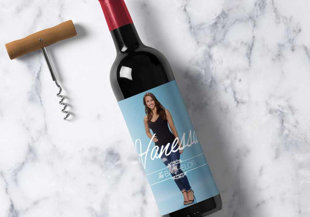 Vanessa Printable Wine Label | Bachelor | Meg Ronspies