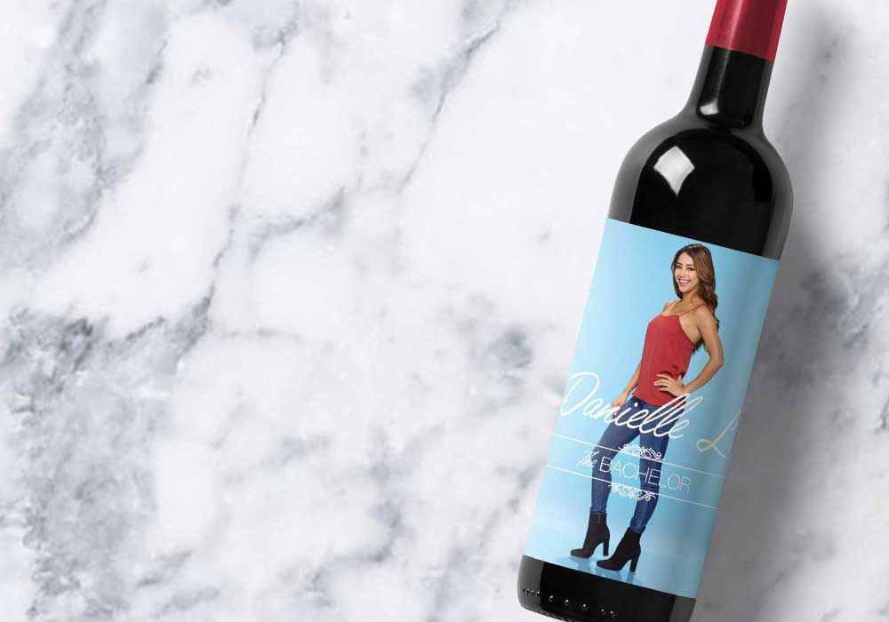 Danielle Printable Wine Label | Bachelor | Meg Ronspies