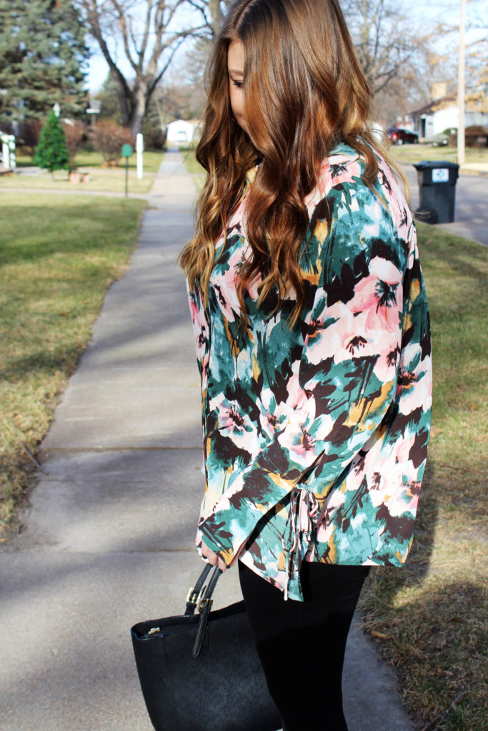 Resolutions To Stick With + Floral Work Top