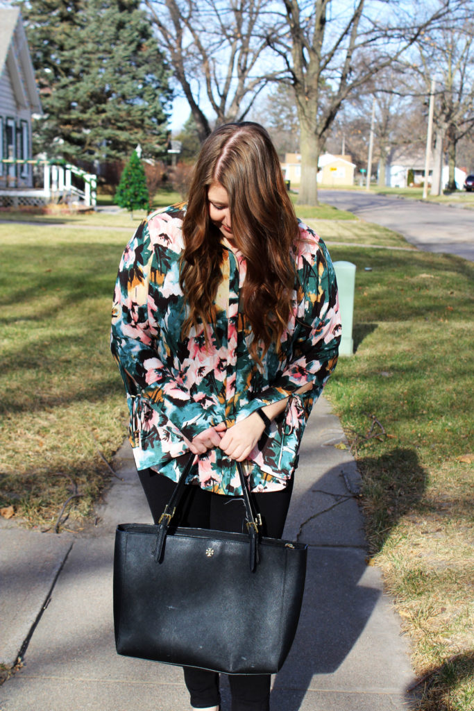 Resolutions To Stick With + Floral Work Top | Margaret Paige Lifestyle Blog
